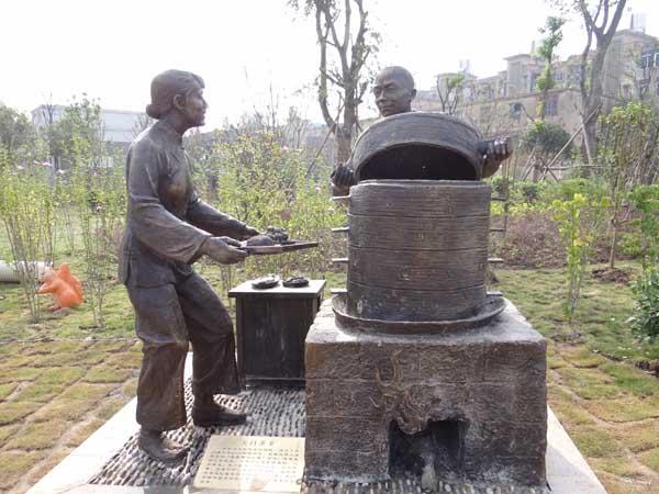东湖公园雕塑 天门蒸菜